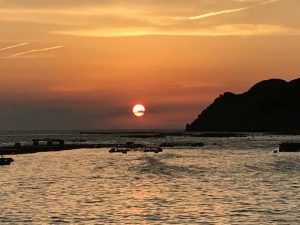 安満地の夕日の画像