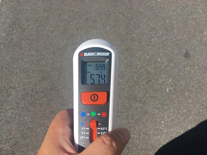 アスファルトの温度の画像