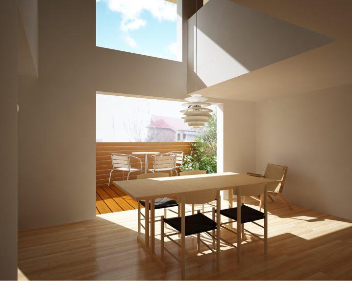 大山崎町田の上の家の内観パースの画像