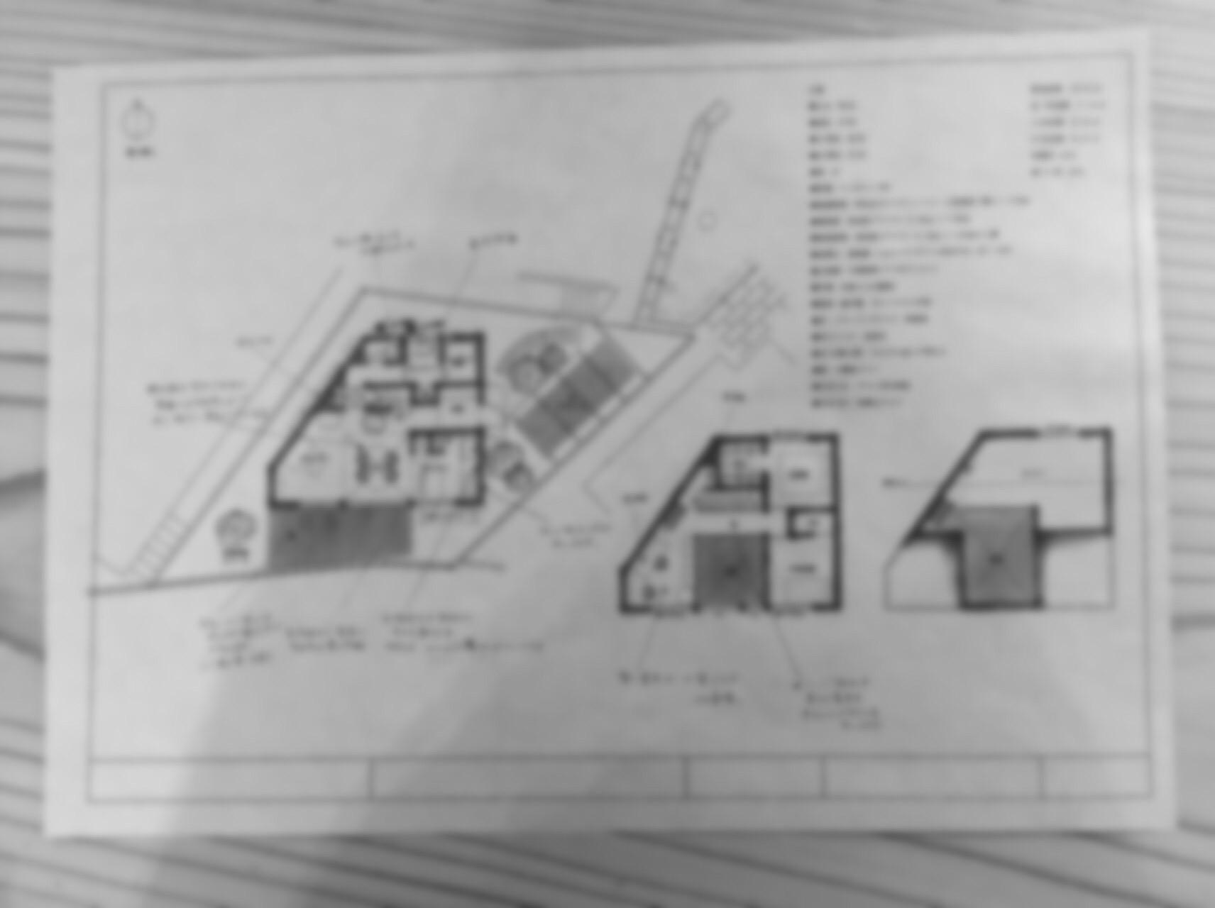 大山崎町上の田の家平面図の画像