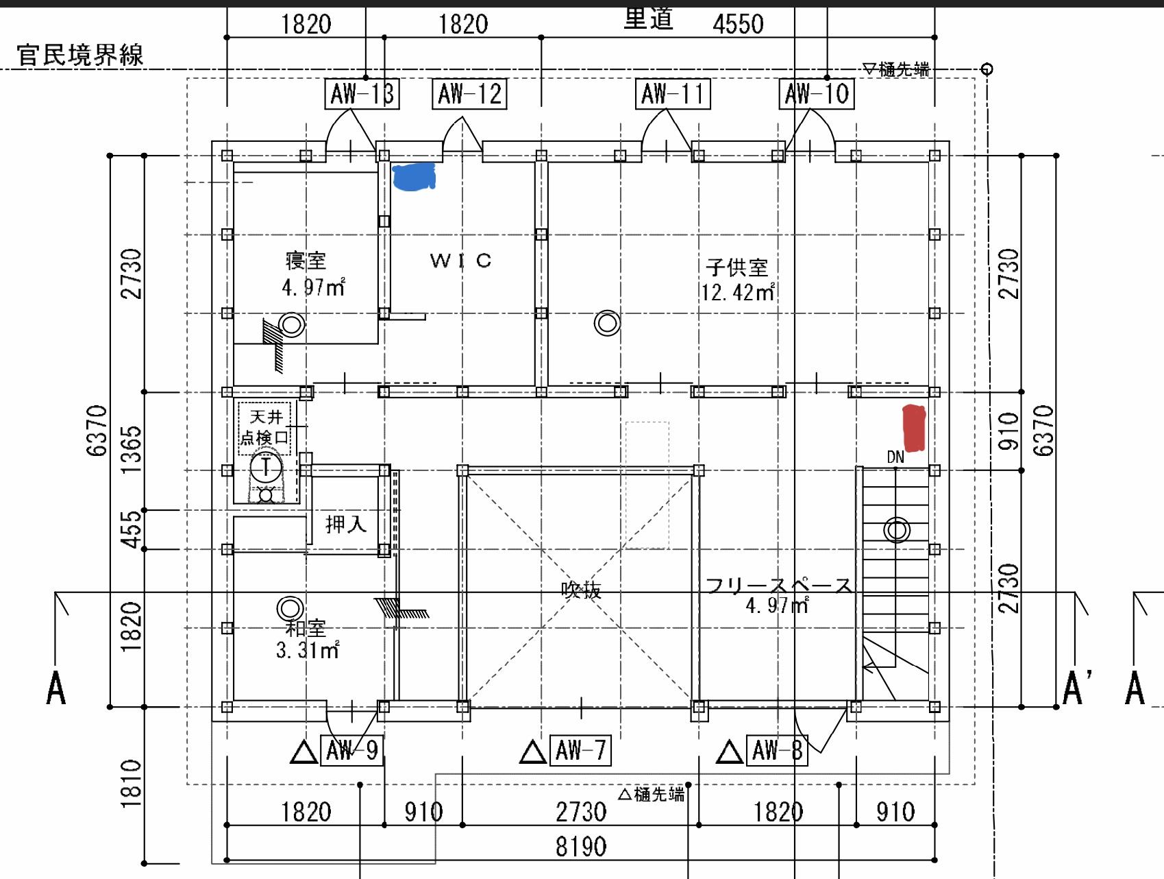 階間エアコン図面20190916の写真